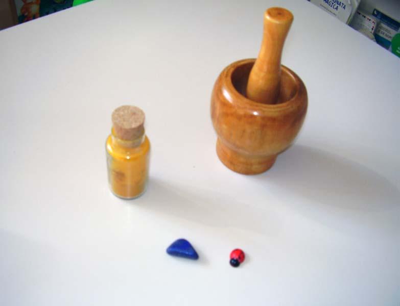 Alcuni strumenti della bottega del pittore...