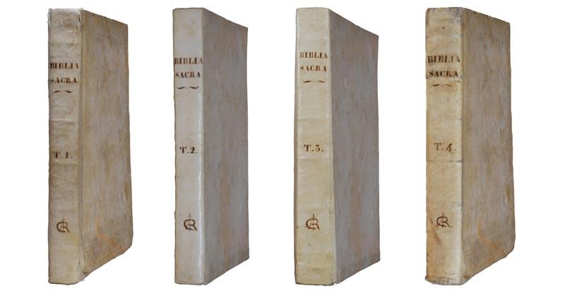 I quattro volumi della Bibbia di Calci