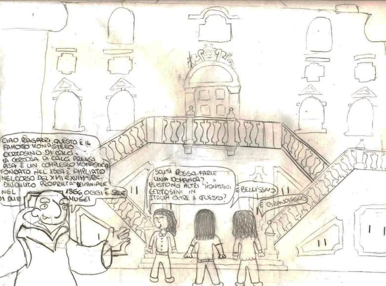 Disegno di un alunno della scuola media di Massa e Cozzile