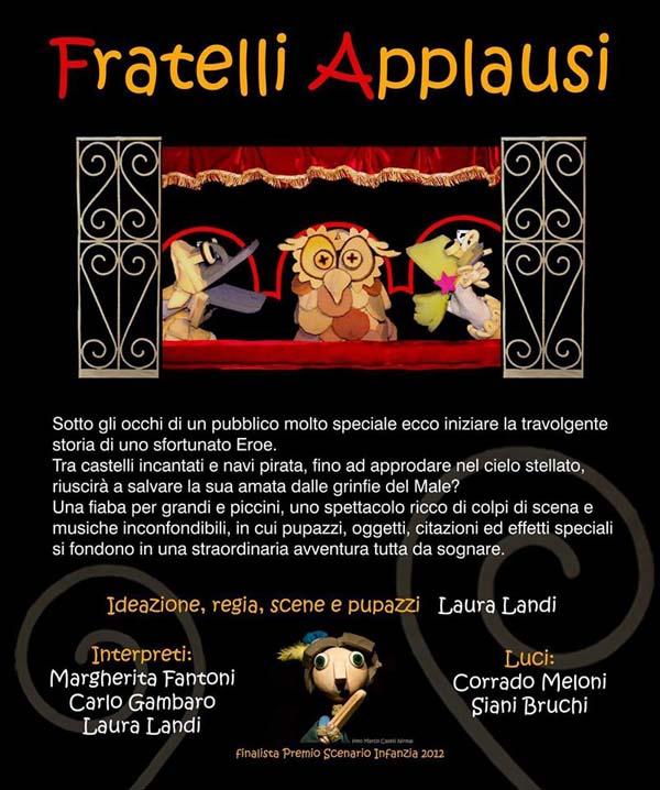 La locandina con la descrizione dello spettacolo
