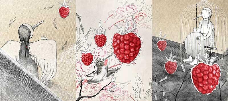 Il giardino delle delizie - tecnica mista - Illustrazione di Dania Puggioni