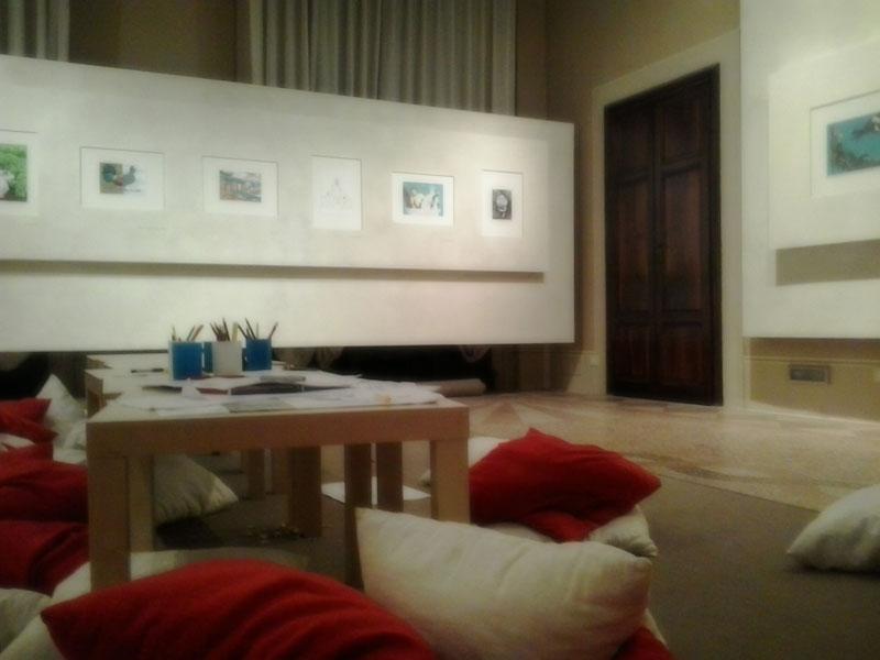 La sala espositiva di Palazzo Blu