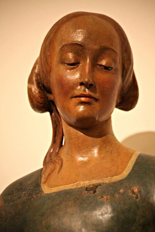 La bellissima statua dell'Annunciata di Matteo Cividali