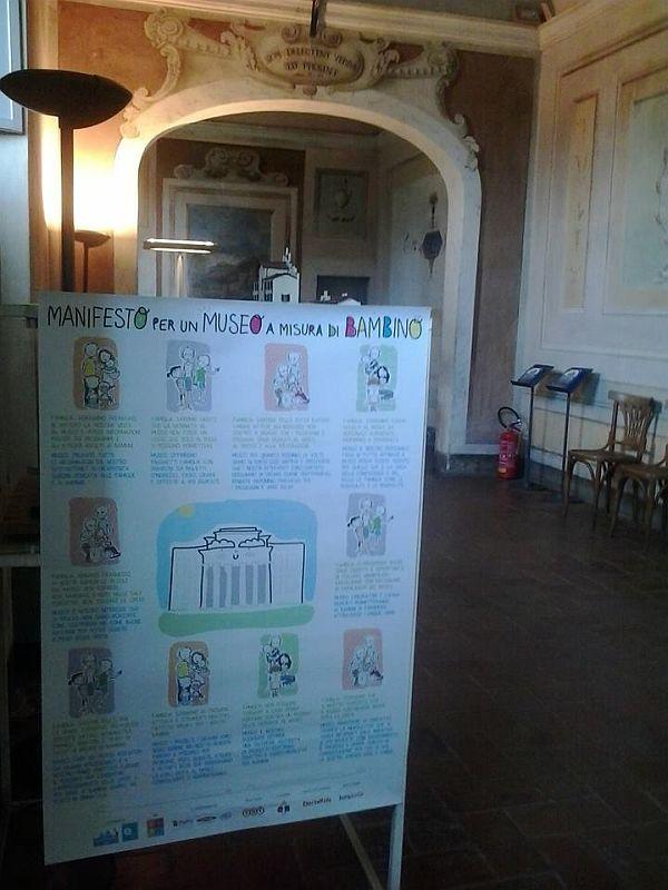 Il manifesto del museo a misura di bambino alla Certosa di Calci