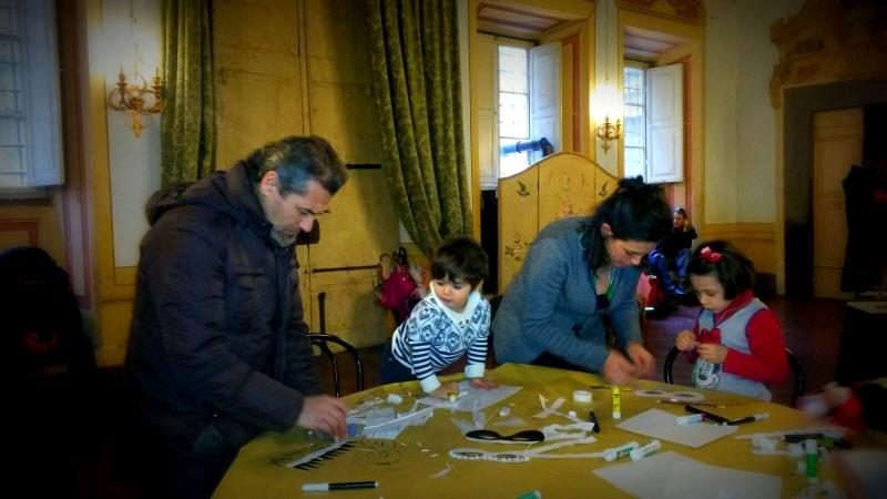 Una delle famiglie al lavoro: concentrazione alle stelle!